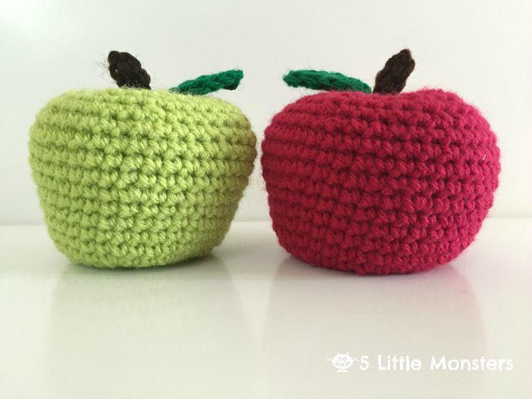 5 Little Monsters Back To School Crocheted Apples