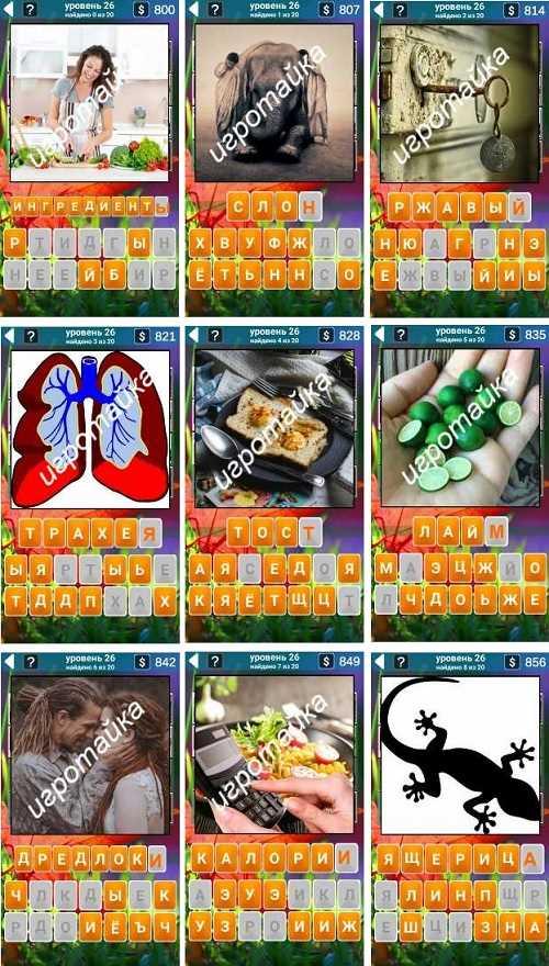 555 слов ингредиенты, слон ответы на 26 уровне в картинках