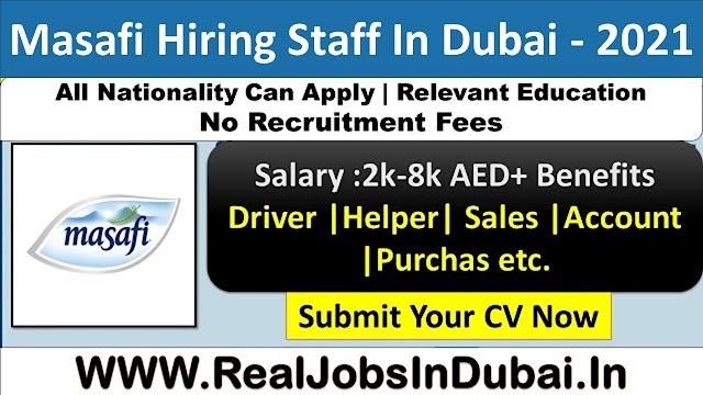 Masafi Company Jobs In Dubai - UAE 2021