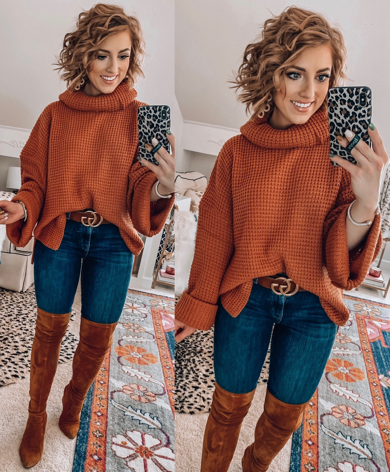 Recent Amazon Finds: Sweaters & Cardigans Edition - $34 Turtleneck Sweater - Something Delightful Blog #FallStyle #AmazonFashion #AffordableStyle