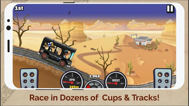 Game Balap Offline Mod Hill Climb Racing 2 Apk