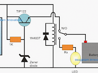 Automatic Solar Light Circuit using a Relay Changeover