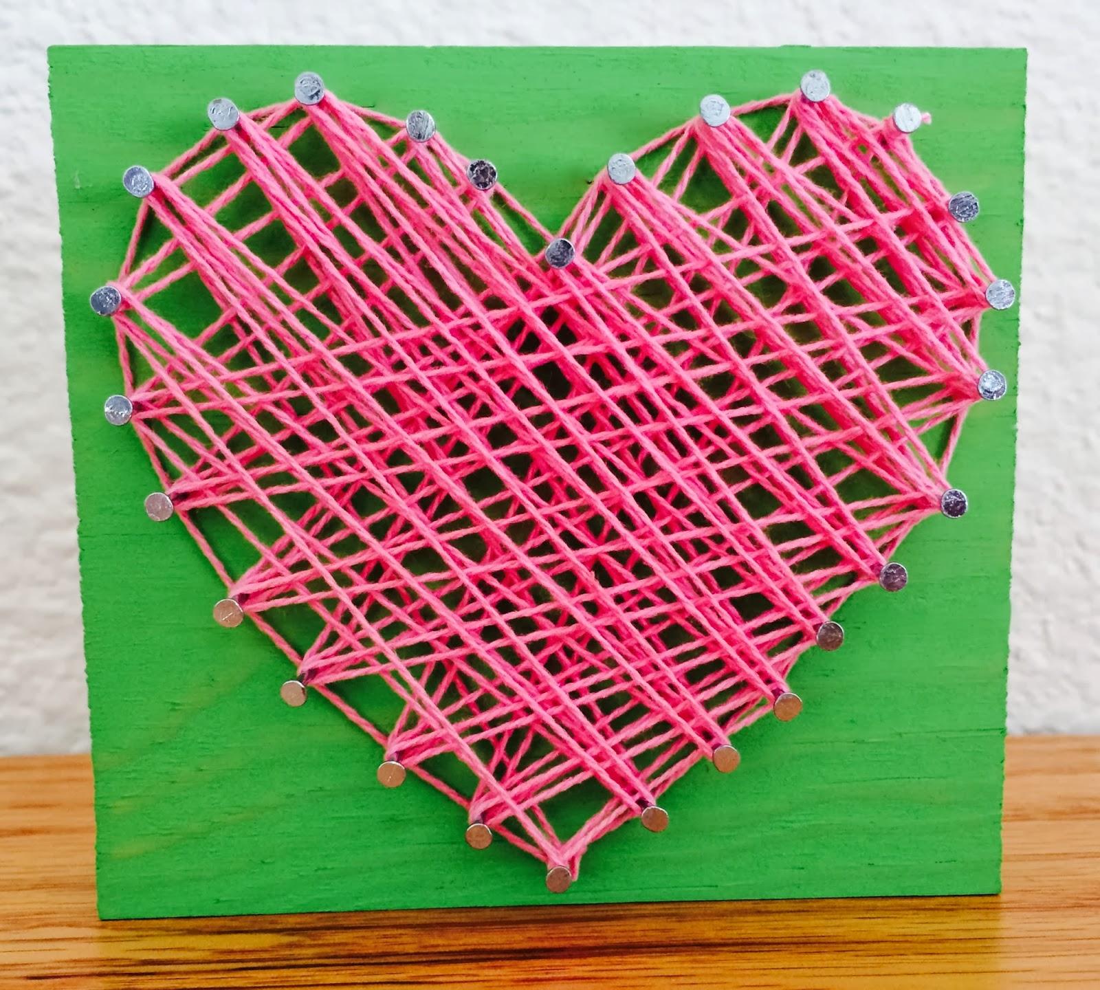 Kathys AngelNik Designs Art Project Ideas String Hearts