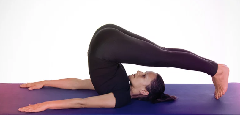 Supported Ardha Halasana Or Half Plow Pose