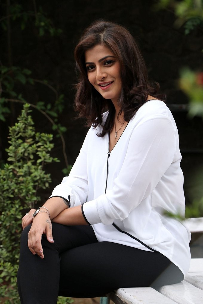 Beautiful Tamil Actress Varalaxmi Sarathkumar Long Hair In White Shirt Jeans