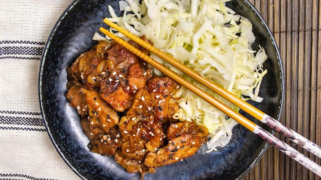 Porc au gingembre (teriyaki)