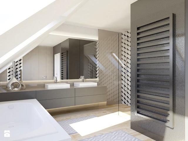Inspiracje, wnętrza, łazienka.