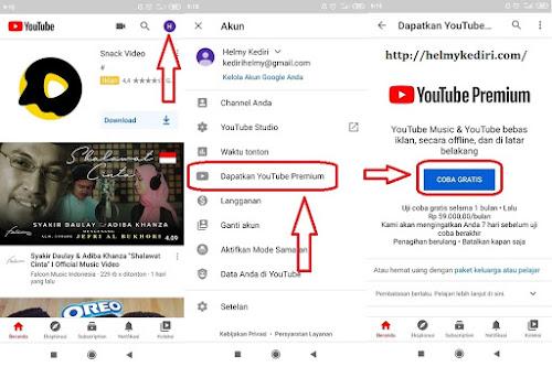 Cara mendapat layanan youtube premium