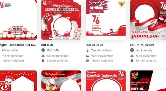 Kumpulan Link Download Twibbon HUT RI 76 Gratis