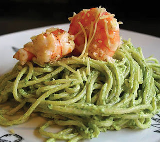 Creamy Pesto Shrimp Recipe