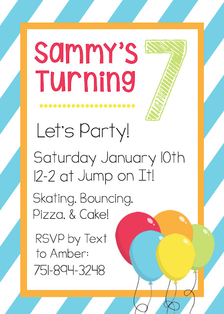 January Birthday Invitation