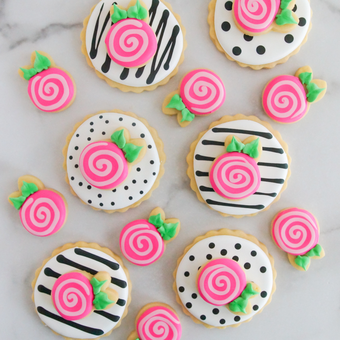 how to make double-decker whimsical rose cookies
