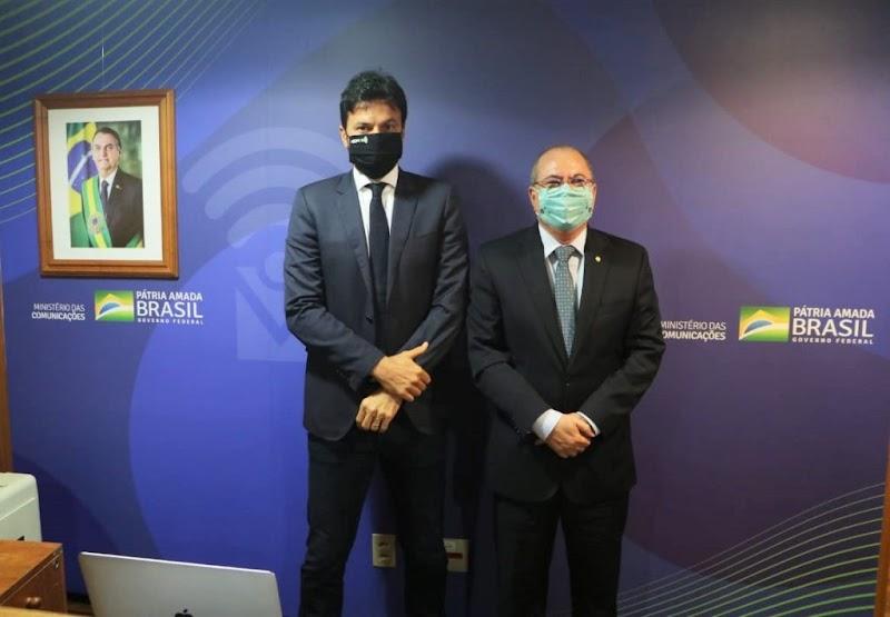 Hildo Rocha leva demandas do Maranhão ao Ministro das Comunicações Fábio Farias