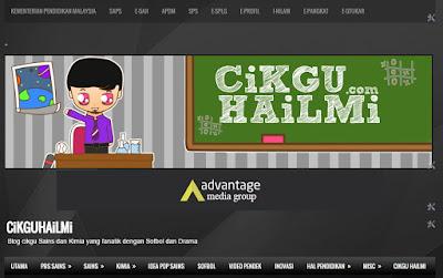 Design blog Cikgu Hailmi yang paling legend sekali. Ramai orang kenal nih!