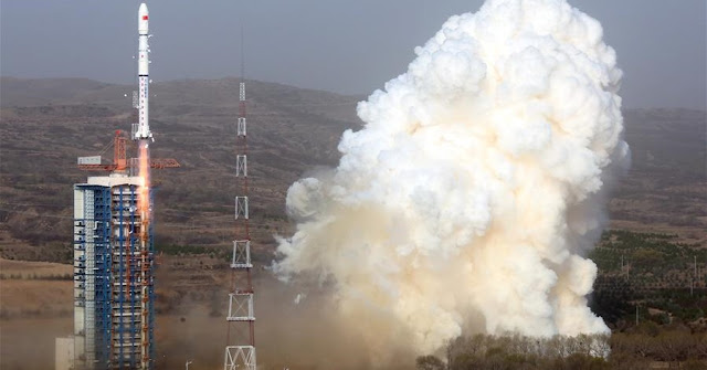 A Long March 4B rocket lifts off Tuesday from the Taiyuan space center in northeastern China. Credit: Xinhua