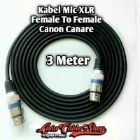 Kabel Mic XLR 3 Meter Female to Female Jack Canon Canare
