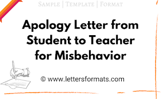 sample apology letter to a teacher for misbehaving