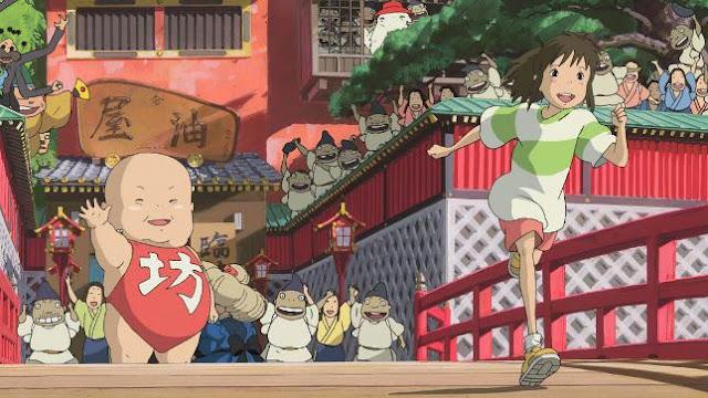Spirited Away ( Sen to Chihiro no Kamikakushi ) Daftar Anime Isekai Terbaik ( Tokoh Utama Masuk Dunia Lain )