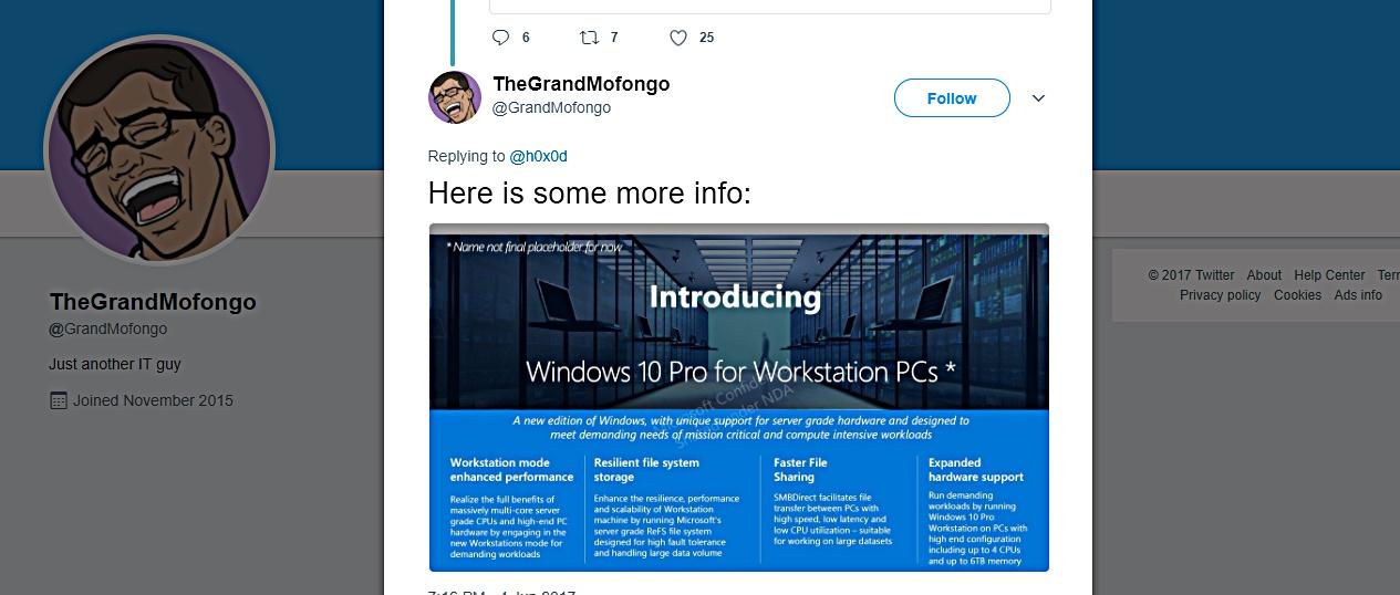New Advanced Mode in Windows 10 Pro ? Hail Workstation PCs