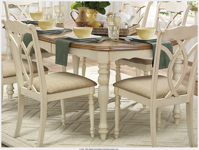 Incredible Antique White Dining Table Wallpaper