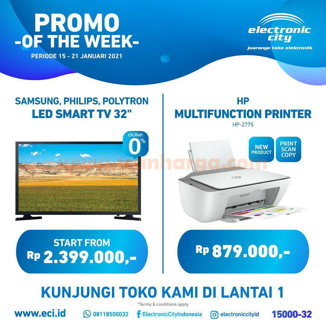 Promo Electronic City Of The Week 15 - 21 Januari 2021
