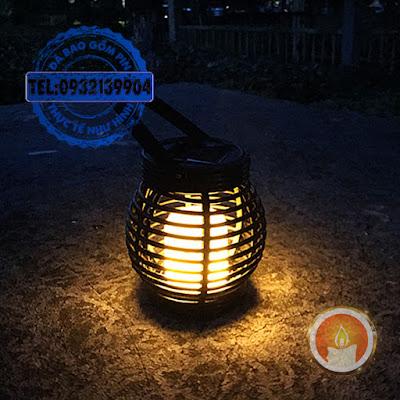 Lồng đèn nến treo cảm biến năng lượng mặt trời