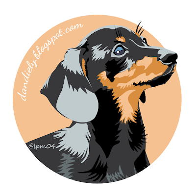 A black and tan dachshund in vector art illustration