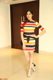 Adha Sharma in a Cute Colorful Jumpsuit Styled By Manasi Aggarwal Promoting movie Commando 2 (141).JPG