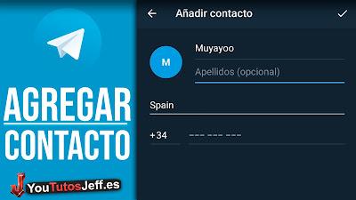 añadir contactos telegram