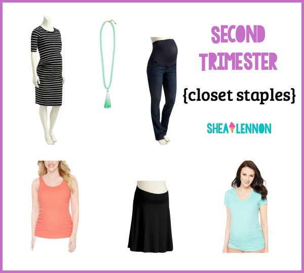 These are the things that I find myself living in during the second trimester of my pregnancy. Click through for details and where to shop.