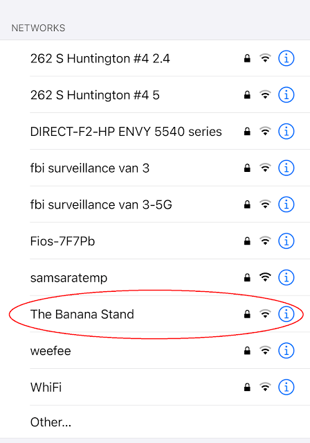 Network Name: The Banana Stand