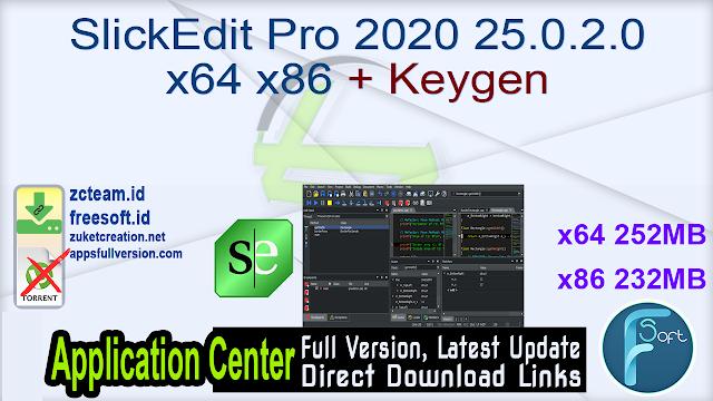 SlickEdit Pro 2020 25.0.2.0 x64 x86 + Keygen_ ZcTeam.id