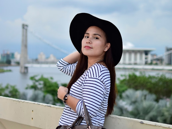 Outfit Diary : Striped shirt + black jegging | Never let go of that dream
