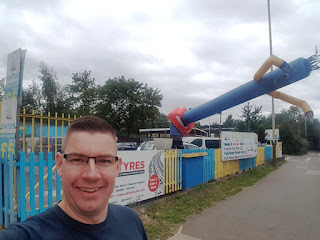The Wacky Waving Inflatable Arm Flailing Tube Man at Mr Bubble car wash in Leicester