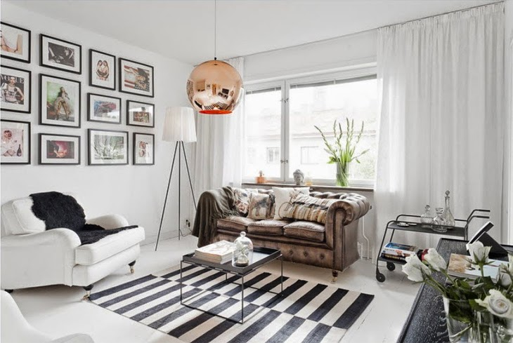 Design Attractor Small And Chic Scandinavian Apartment