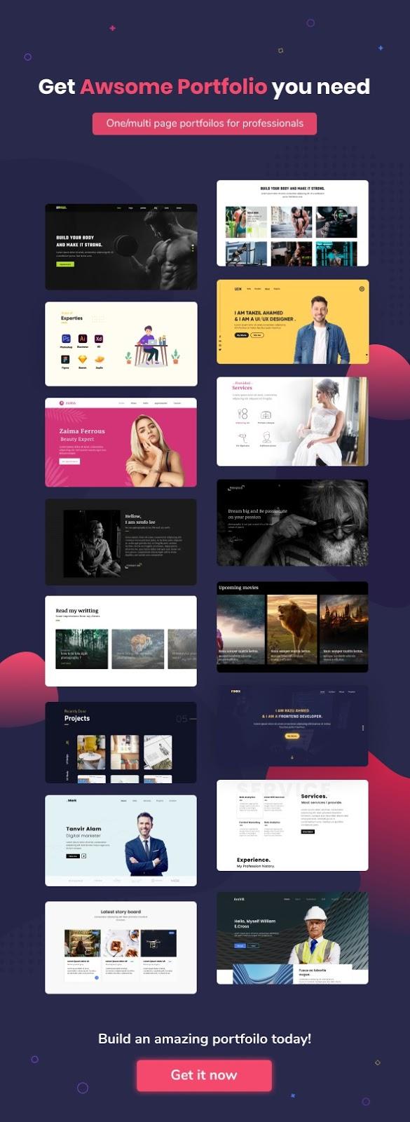 PortfolioHub - Multi Professional HTML5 Template