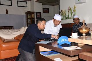 Bupati Lombok Utara Pelopori Pengisian Data SP Online 2020