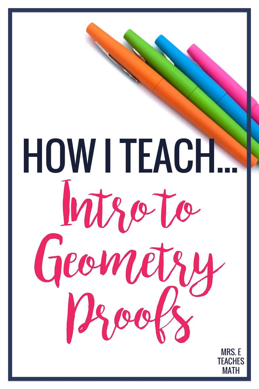 How I Teach the Introduction to Proofs  Mrs. E Teaches Math Pertaining To Geometry Worksheet Beginning Proofs