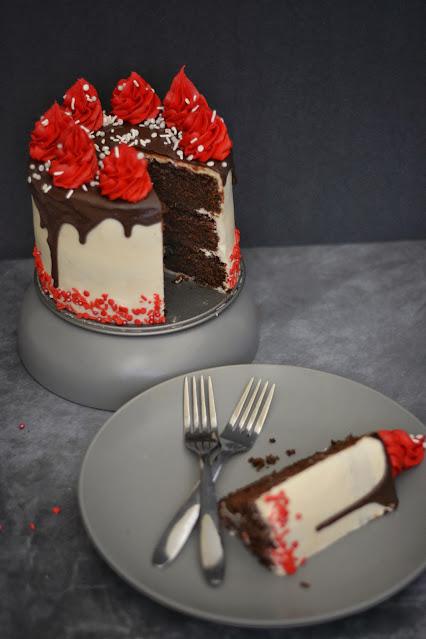 Chocolate cake with Chocolate ganache recipe