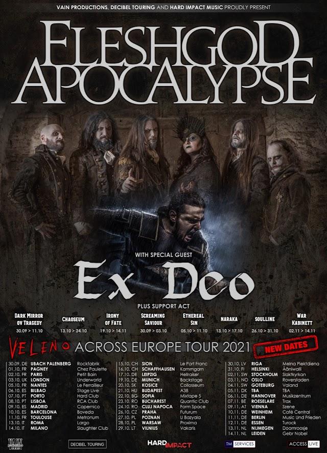 Fleshgod Apocalypse e Ex Deo em Portugal no próximo ano