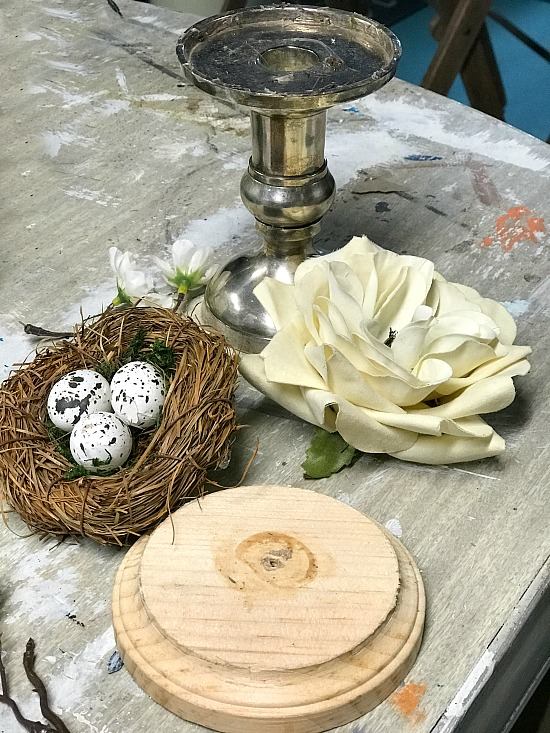Candlestick Bird's Nest Spring Decor Supplies