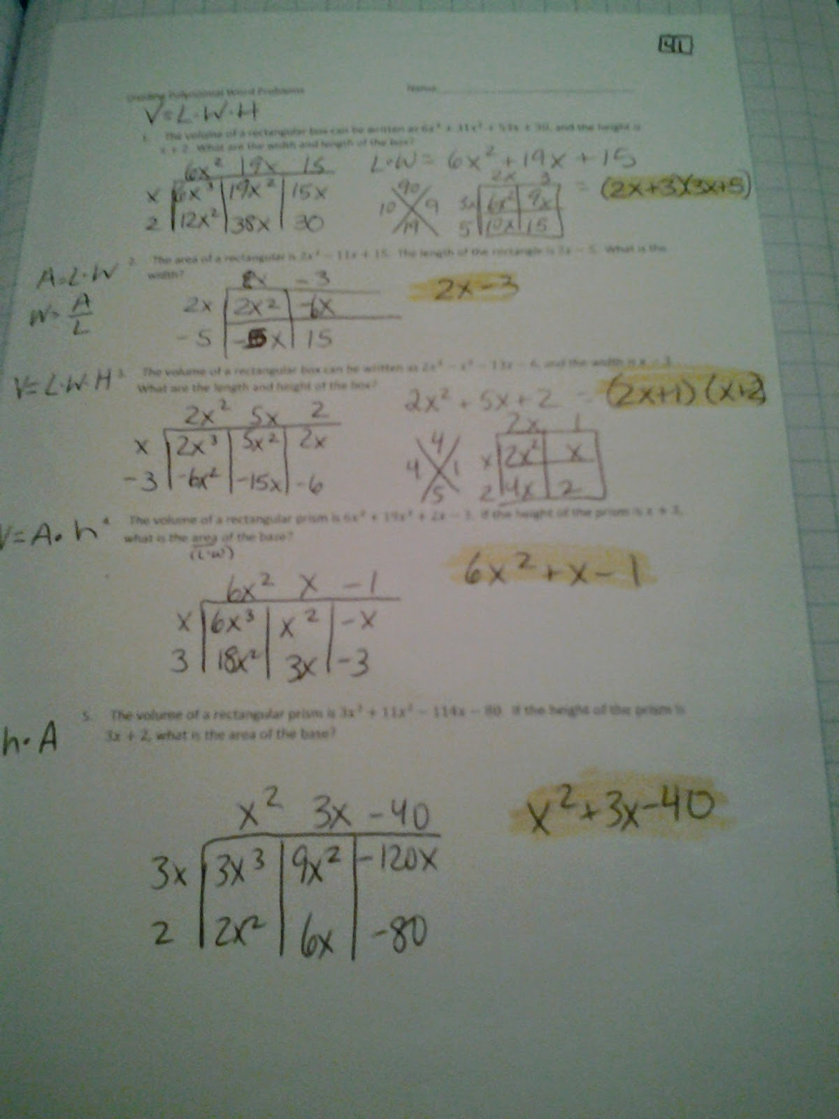Dividing Polynomials Worksheet Kuta