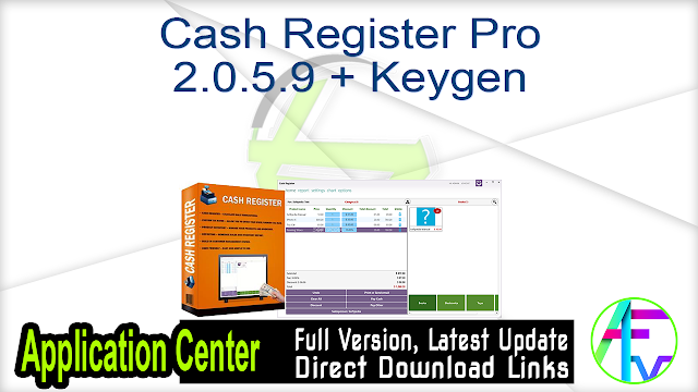 Cash Register Pro 2.0.5.9 + Keygen