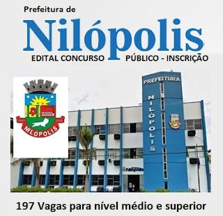 Edital concurso Prefeitura de Nilópolis 2016