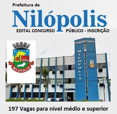 Edital concurso Público Prefeitura de Nilópolis 2016