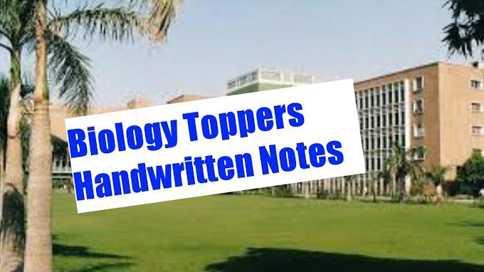 Topper Biology Handwritten Notes For Neet