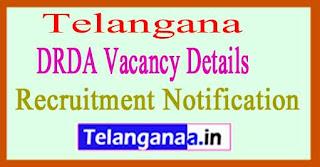 Telangana DRDA Recruitment Notification Vacancy Details 2017