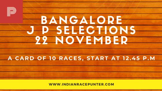 Bangalore Jackpot Selections 22 November