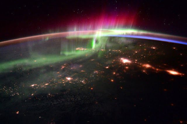 Magical Aurora Borealis from Space