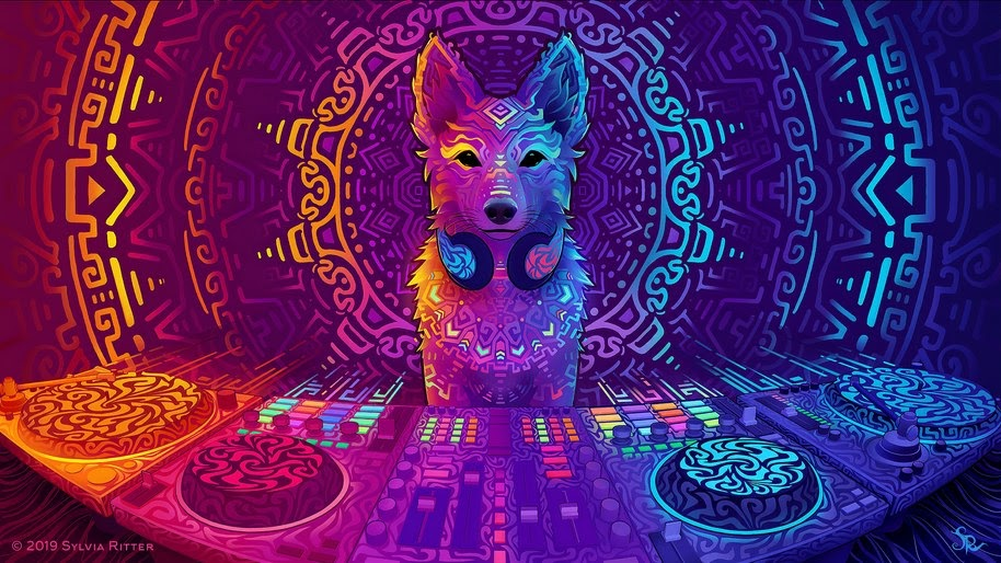 Dj Digital Art Dog Abstract 4k Wallpaper 68